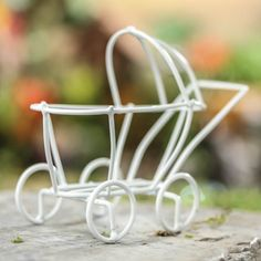 Miniature Wire Baby Carriage