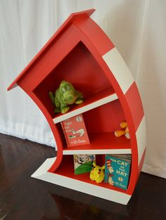 Cat In The Hat Bookcase, Dr Seuss Bookshelf, Whimsical Bookcase, Alice In  Wonderland Furniture, Dr Seuss Bookcase, Nursery Bookcase