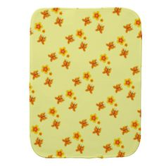 2 Sided Butterflies and Flowers Burping Cloth Burp Cloth
