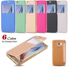 For Galaxy S7 Edge Smart Clear Back Cover Ultra Thin Leather Flip Phone Sleeve Case For Samsung Galaxy S7 G930/ S7 Edge G935