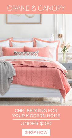 From chic bedding, designer duvet covers to luxury sheets, we've got everything you need build the bedroom of your dreams. Named HGTV's best site for bedding. Chic Bedding, Luxury Bedding, Best Cotton Sheets, Peach Bedroom, Luxury Sheets, Best Duvet Covers, Duvet Cover Design, Minimalist Living, Duvet Sets