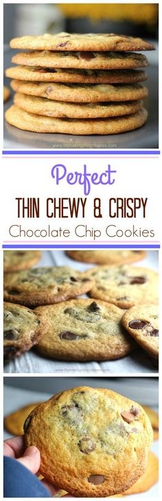 Best Thin & Crispy Chocolate Chip Cookies via @https://www.pinterest.com/BaknChocolaTess/