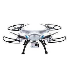 Syma X8G Headless 24Ghz 4CH RC Quadcopter with 8MP HD Camera Silver * You can find more details by visiting the image link-affiliate link.