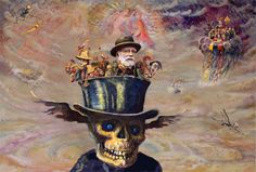 James Ensor <3 one of my favorite artists. His skulls are incredible.