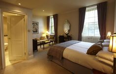 Ivy View Suite, best views over Bury's Georgian Square and Cathedral, relaxed charm, subtle tones
