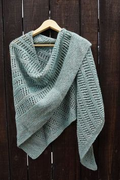Blue Paris Shawl Toujours knitting project shared on the LoveKnitting Community