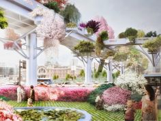 Dutch architecture firm MVRDV has unveiled plans to transform a large stretch of unused raised highway in Seoul, South Korea, into a pedestrian-friendly space filled with greenery. The Seoul Skygarden is due for completion in Architecture Design, Green Architecture, Landscape Architecture, Urban Landscape, Landscape Design, Landscape Concept, Chinese Landscape, Plan Maestro, Win Competitions