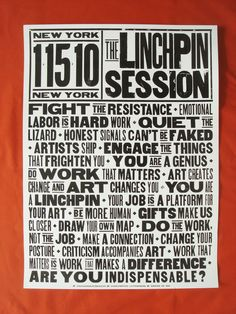 Linchpin poster from Seth Godin