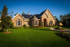This one-story traditional brick home offered by Design Tech Homes is an EnergyPlus Home.