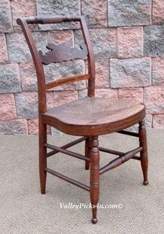 Early Antique Sheraton Hitchcock St Fancy Chair ~Radical Back ~Rush Seat~Painted