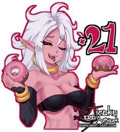 Android 21 sticker slap design :D Art Portfolio, Dragon Ball, Illustration, Anime, Sticker, Design, Android, Illustrations, Design Comics