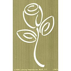 Lasting Impressions Brass Rose Bud Embossing Template