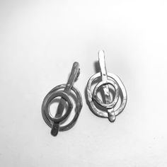 Abstract Circle Earrings in Sterling Silver Circle Earrings, Hoop Earrings, Organic Shapes, Jewellery, Contemporary, Sterling Silver, Abstract, Gallery, Gold