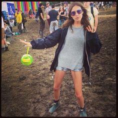 Alexa Chung's festival style - Glastonbury 2014