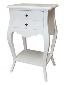 Antique French White Bedside Table Lovely