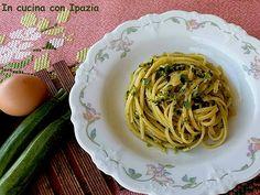 Linguine alla carbonara di zucchine