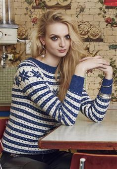 Pattern available as part of Norwegian pamphlet collection from Sandnesgarn. Cute Fashion, High Fashion, Norwegian Knitting, Ski Sweater, Pattern Library, Ikon, Vintage Looks, Ravelry, Free Pattern