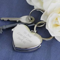 Personalised Silver Photo Frame Heart Key Ring Locket Valentines Mothers Day Her Personalised Keyrings, Personalized Valentine's Day Gifts, Personalised Pens, Great Mothers Day Gifts, Valentine Day Gifts, Christmas Gifts, Photo Keyrings, Photo Heart, Special Person