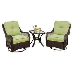 Found it at Wayfair - Orleans 3 Piece Seating Group in Chocolate with Cilantro Cushions
