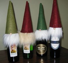 Gnome Wine Toppers for Santa Christmas | eBay