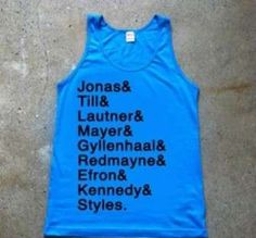 This Taylor Swift Boyfriend Shirt Lists the Singer's Exes #taylorswift trendhunter.com