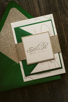Hey, I found this really awesome Etsy listing at https://www.etsy.com/listing/188056693/metallic-emerald-gold-letterpress