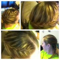 You can wrap a French braid around in many interesting ways...this is one of the first ones I did.