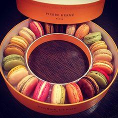 Full of colorful macaroons  Pierre Herme   Paris
