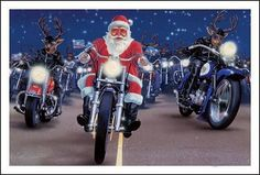 Harley Davidson holiday -Santa and his elves bringing gifts to my holiday party. #HDNaughtyList