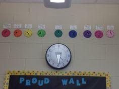Schedule Classroom Displays, Classroom Ideas, School Ideas, Schedule, Clock, Wall, Home Decor, Timeline, Watch