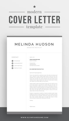 Focus on your cover letter content instead of stressing about the letter's formatting. Use a professionally designed template and make your cover letter look amazing. Get the resume template pack Melinda with matching resume, cover letter and references templates, and create an impressive job application today! #coverletter #resume #resumetemplate #cv #cvtemplate #career #careeradvice #job #jobsearch One Page Resume Template, Modern Resume Template, Cv Template, Resume Templates, Professional Cover Letter Template, Cover Letter For Resume, Resume References, Microsoft Word 2007, Thing 1