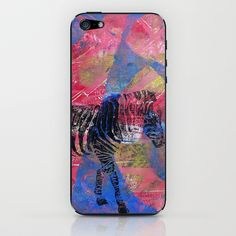 Gel Zebra  iPhone & iPod Skin by Rachel Winkelman - $15.00