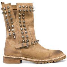 Studded Biker Ankle Boot