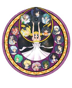 Stained Glass Senshi