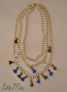 ste.ma triple tassel necklace