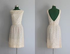 Classic Elegance Vintage Dress / 1960s White Lace Dress / 60s by HolliePoint, $108.00