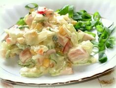 In my kitchen: salad with celebrity Translate Appetizer Salads, Cooking Recipes, Healthy Recipes, Polish Recipes, Vegetarian Options, Vegetable Salad, I Love Food, Bon Appetit, Pasta Salad