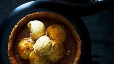 Maple syrup and brown sugar tart with caramel apples and pancake ice-cream recipe : SBS Food