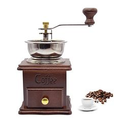 XHSP Vintage Mini Manual Coffee Grinder Wooden Hand Coffee Mill Herbal Medicine Grinding Machine >>> Check out this great product.
