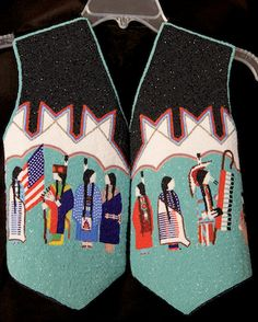 Dale & Claire Gilbert (Apache) *The beaded vest* Native American Regalia, Native American Clothing, Native American Beadwork, Native American Fashion, Indian Beadwork, Native Beadwork, American Indian Crafts, American Art, Powwow Regalia