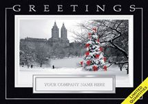 Personalized Business Holiday Greeting Cards   Central Park Joy Holiday Cards - Custom Printed Personalized Holiday Cards Business Christmas Cards, Holiday Greeting Cards, New York Christmas, Christmas Holidays, Park Joy, Joy Holiday, Personalised Christmas Cards, Types Of Printing, Card Envelopes