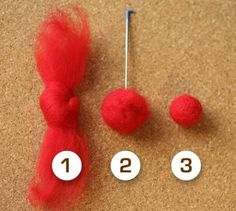 Different sizes wool felt ball x 100 multicolored. Different felt balls mixed color. DIY baby cell phoneDifferent sizes wool felt ball x 100 multicolored. Different felt balls mixed Felted Wool Crafts, Felt Crafts, Snowman Crafts, Paper Crafts, Nudo Simple, Needle Felting Tutorials, Needle Felted Animals, Felt Animals, Felt Ball