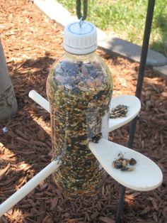 neat bird feeder for grandkids to make