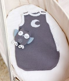 knitted sleeping bag & owl- download available