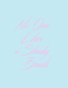 Shady Beach- Free Printable