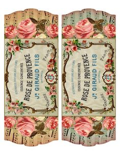 Free printable ~ French perfume label & project idea from lilac-n-lavender (lots of great vintage printables! Vintage Tags, Vintage Prints, Images Vintage, Vintage Labels, Vintage Ephemera, Printable Vintage, Vintage Packaging, Printable Labels, Free Printables