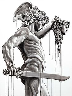 tattoo artist jun cha works across various mediums, including sculpture, painting, and tattooing, drawing from renaissance greats. Grey Tattoo, Black Tattoos, Body Art Tattoos, Tattoo Drawings, Sleeve Tattoos, Buddha Tattoos, Tattoo Ink, Hand Tattoos, Perseus Und Medusa