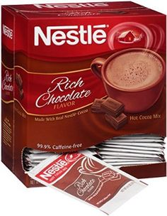 Nestle Hot Cocoa Mix, Rich Chocolate Packets-for hot chocolate bar