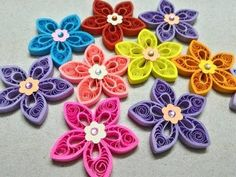 Two tone tear drop shape quilling flower tutorial - YouTube