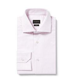 Zegna Pink/White Striped Trofeo Shirt